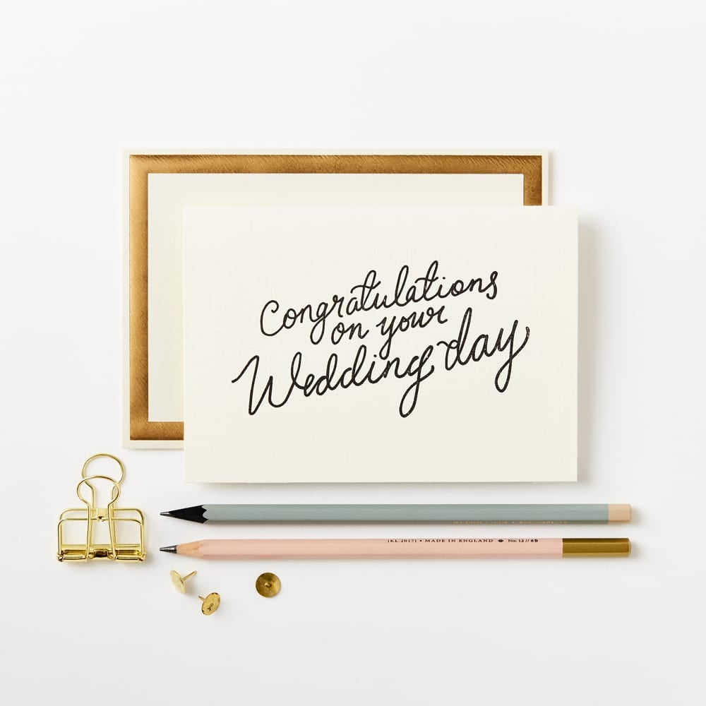 Congrats wedding day luxury greeting cards katie leamon congrats wedding day card m4hsunfo