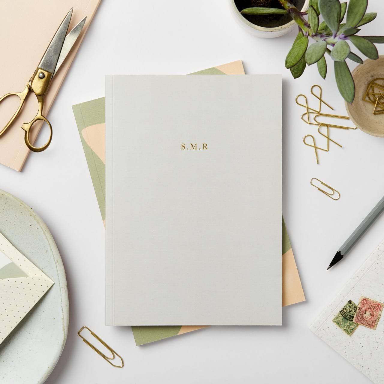 Katie Leamon Dark Grey Personalised Notebook