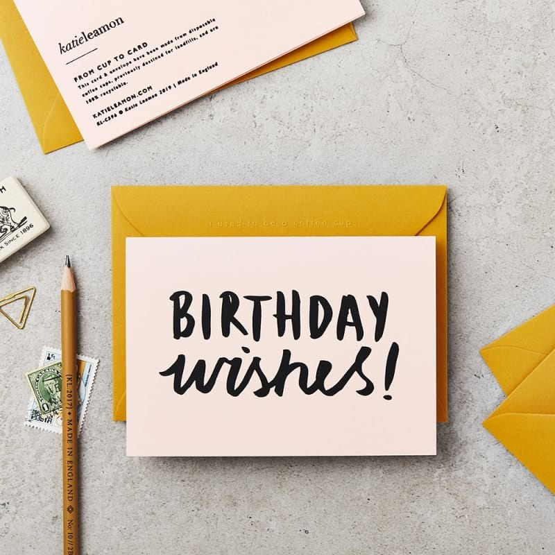 Katie Leamon Recycled Birthday Wishes Card