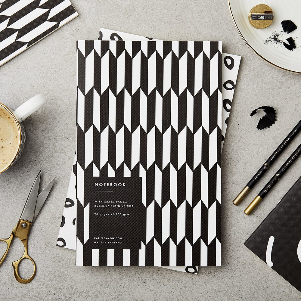 Black And White Chevron Notebook