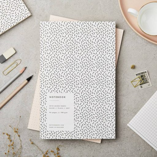 Katie Leamon Black & White Confetti Notebook