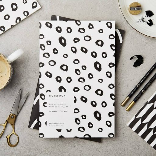 Black And White Hoops Notebook