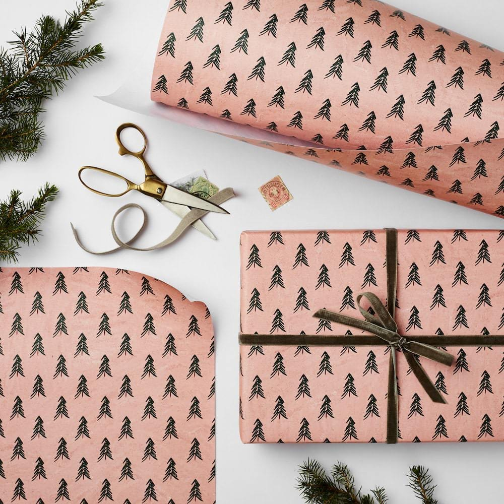Katie Leamon pink trees wrap