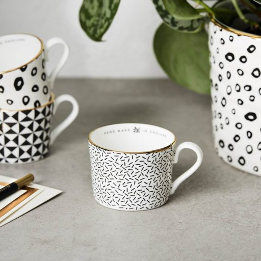 Black & White Confetti Espresso Cup
