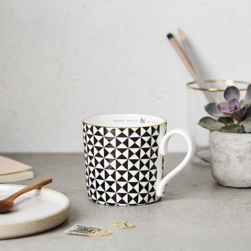 Katie Leamon Black & White Pyramid Mug