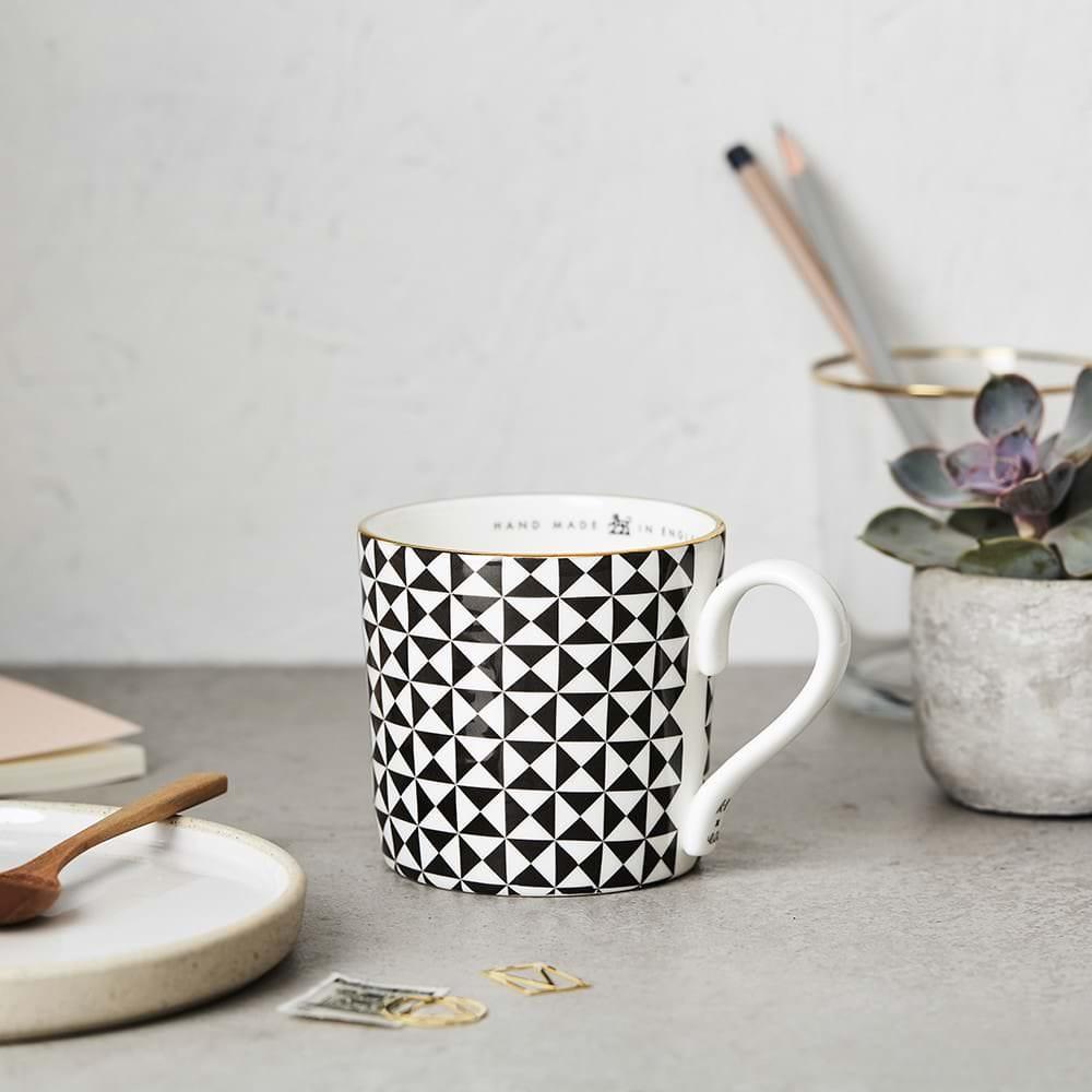 Katie Leamon Black & White Pyramid Mug