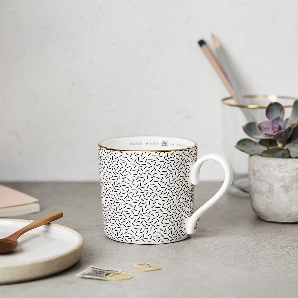 Katie Leamon Black & White Confetti Mug
