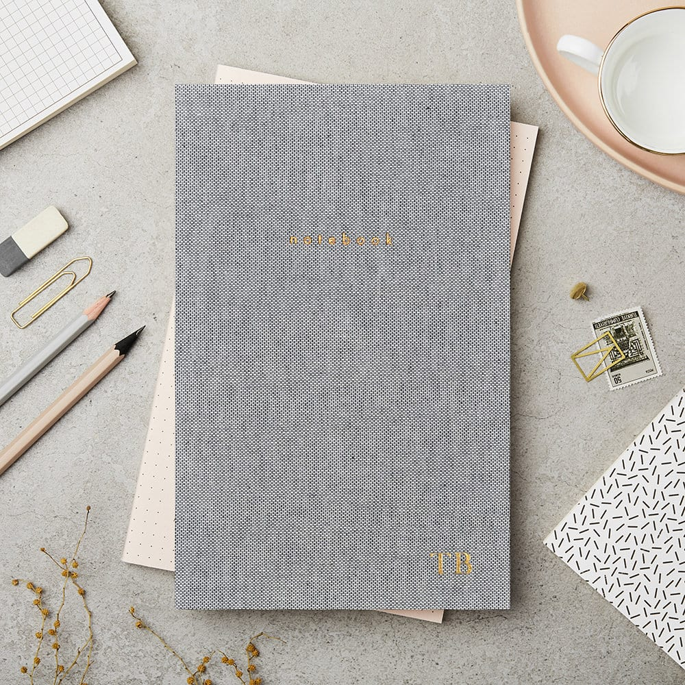 Grey Hardback Notebook