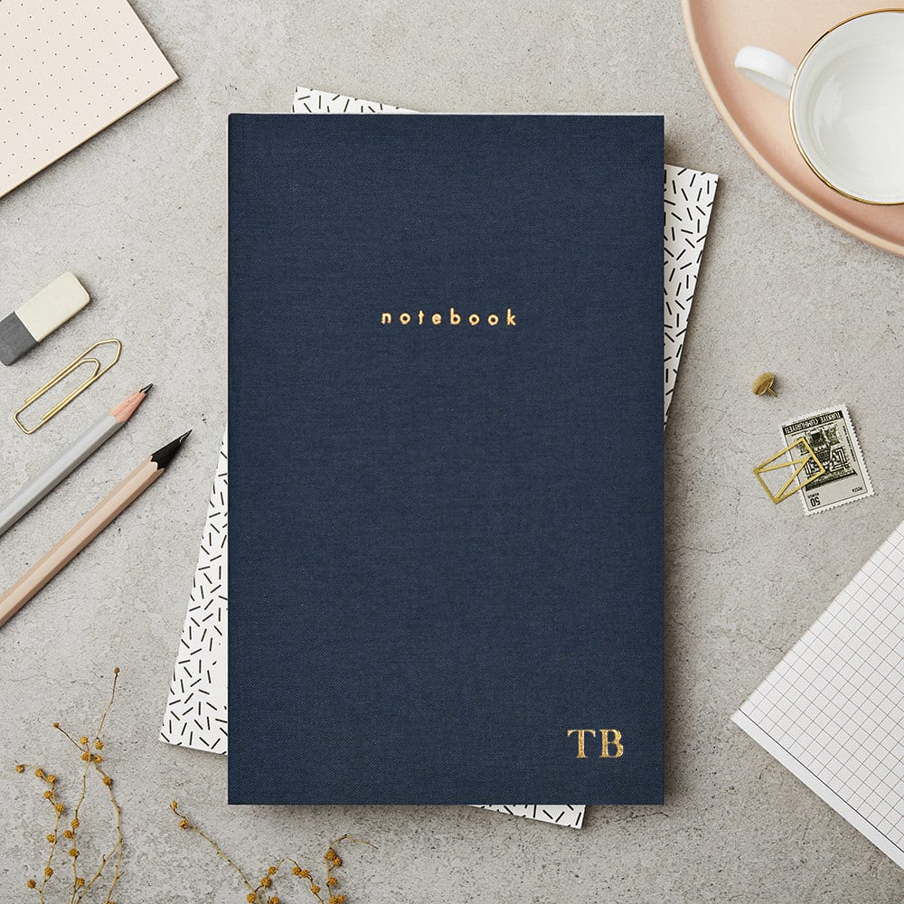 Navy Hardback Notebook