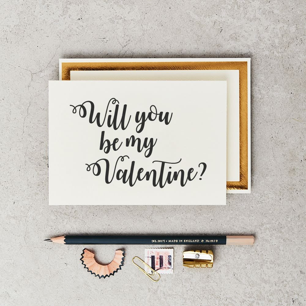 Katie Leamon be my valentine card 2020